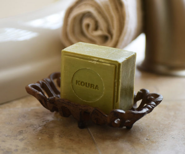 Natural green imported olive oil soap. Imported from Lebanon. 5.5 oz.