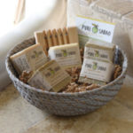 Big Basket with 5 soaps and handmade tray