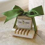 Green olive soap, natural imported soap, cypress soap tray, perfect gift