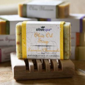Olivespa Natural scented olive oil soap, Lavender Chamomile scent, 4 oz.