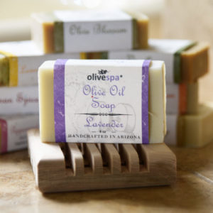 Olivespa Natural scented olive oil soap, Lavender scent, 4 oz.