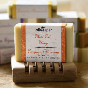 Olivespa Natural scented olive oil soap, Orange Blossom scent, 4 oz.