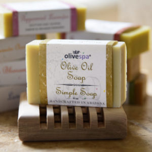 Olivespa Natural scented olive oil soap, unscented, 4 oz.