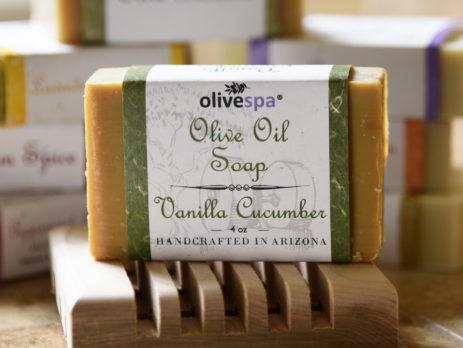 Olivespa Natural scented olive oil soap, Sonoran Spice scent, 4 oz.
