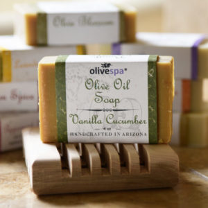 Olivespa Natural scented olive oil soap, Sonoran Spice scent, 4 oz.