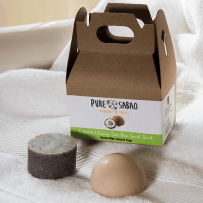 Coconut Cream Soap with Coconut Fibers, Coconut Oil