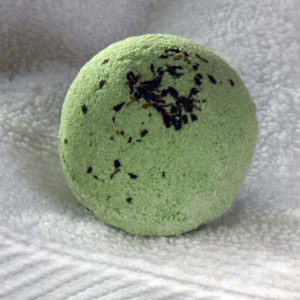 Botanical Bath Bomb, essential oil bath bomb, bath fizzy, Double Mint scented bath bomb