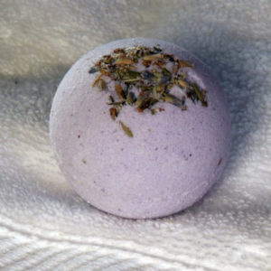 Botanical Bath Bomb, essential oil bath bomb, bath fizzy, lavender scented bath bomb